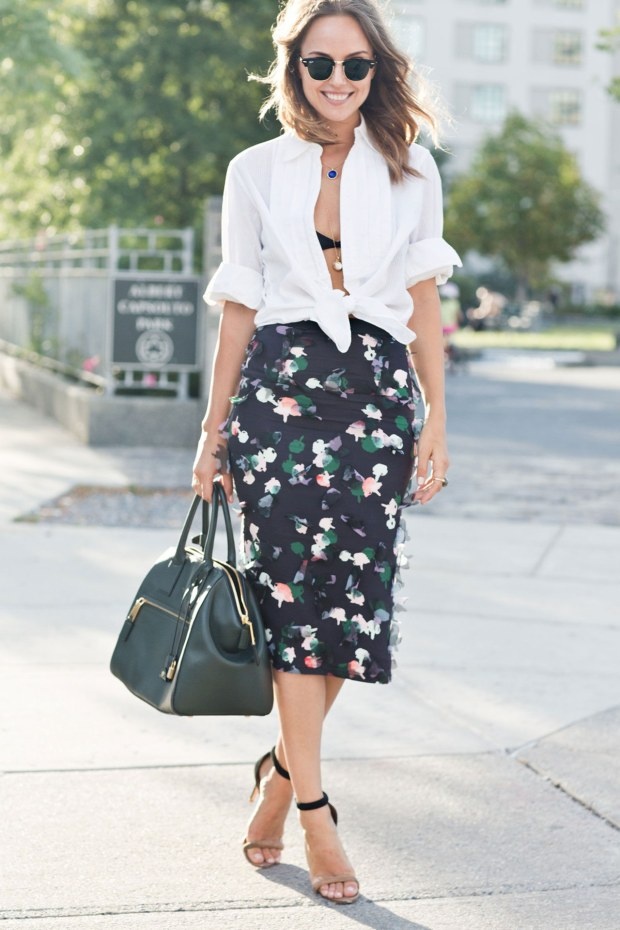 fashion-2015-11-white-shirt-outfit-ideas-date-black-bra-floral-skirt-the-glamorai-main